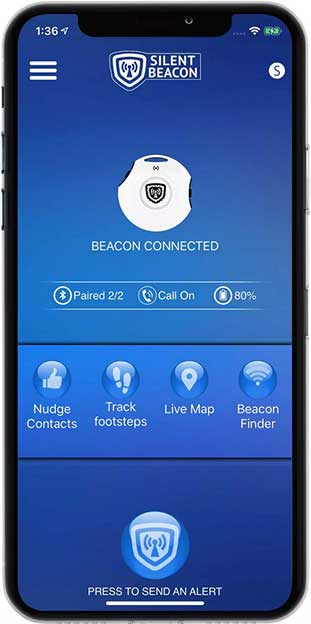 x01 1 Panic Button and Safety App   Silent Beacon